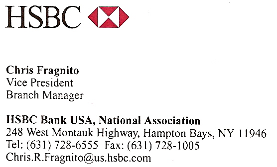 HSBC BANK - Click on each to visit Website